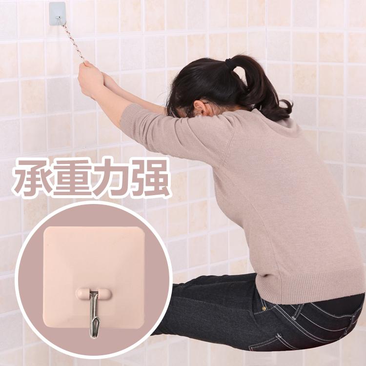 创意厨房壁挂墙壁挂钩免打孔置物架强力不粘钩浴室粘胶无痕钉钩子