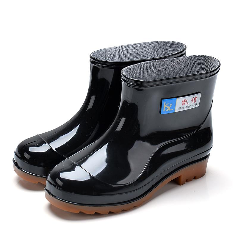 雨鞋女冬短筒防滑男士雨靴防水加绒保暖加厚水鞋低帮套鞋胶鞋厚底