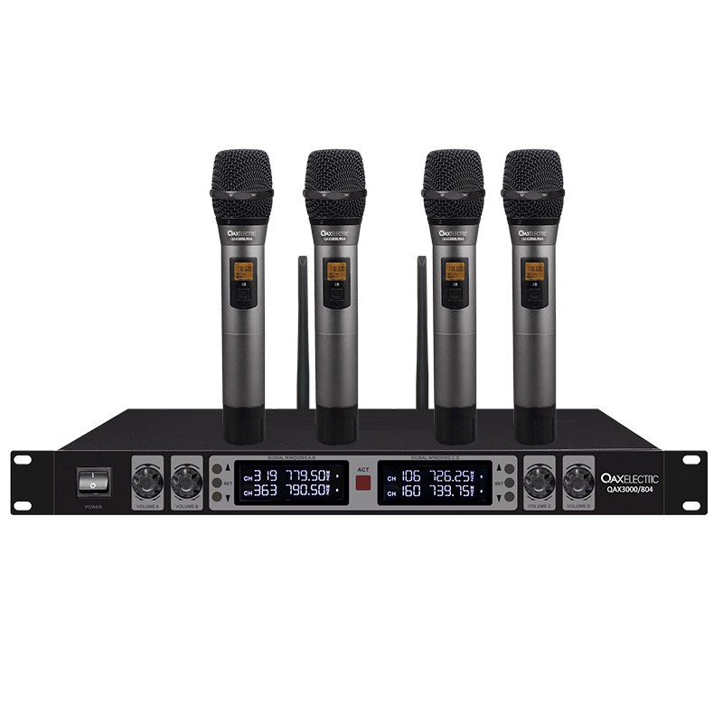 Qax3000 / 802 Knight audio 804 wireless handheld microphone for conference stage household karaoke desktop microphone