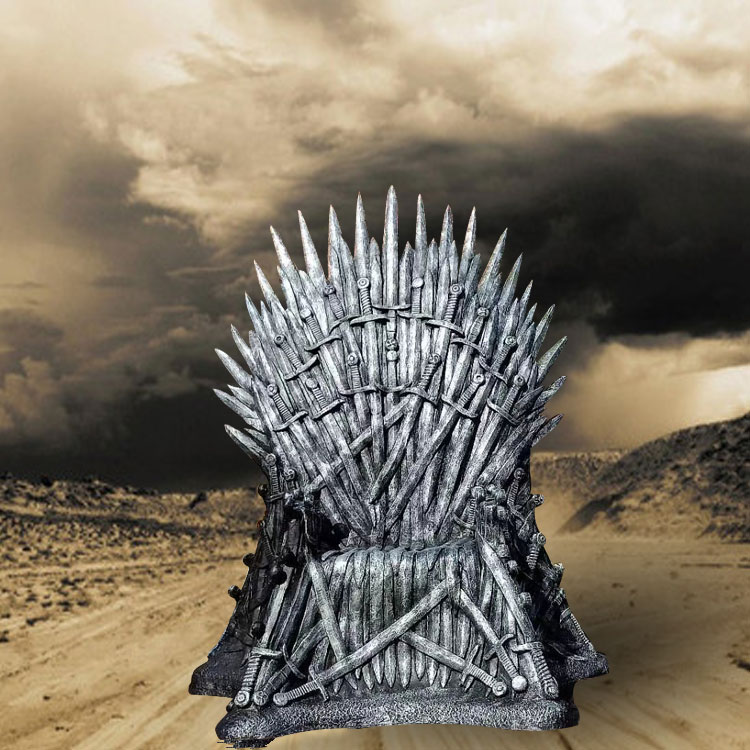 Spot glass steel throne sculpture ice and fire song iron King chair sculpture ornament power game decoration