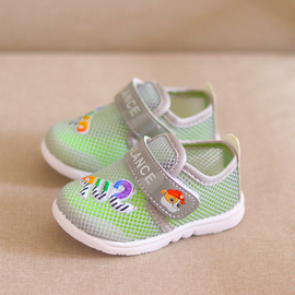 实心底夏季1-3岁男女宝宝鞋运动鞋0-1岁婴儿学步鞋儿童网鞋透气鞋图片