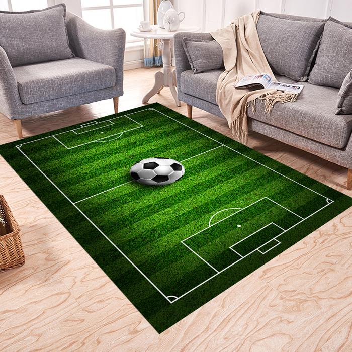 中國代購 中國批發-ibuy99 足球 儿童房男孩足球场篮球场地毯幼儿园游戏亲子运动床边卧室定制地垫