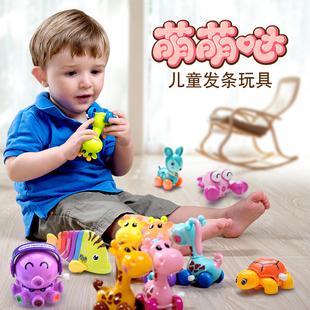 爱奇天使 婴儿益智玩具会跑小动物青蛙一岁宝宝上弦上链发条玩具