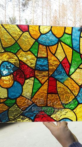 艺术玻璃 彩色玻璃天花吊顶 彩晶蒂凡尼教堂玻璃 琉璃玻璃窗