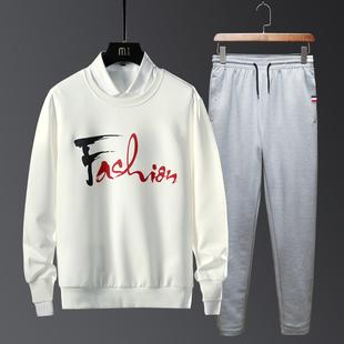 运动套装男春秋长袖休闲装跑步运动服大码宽松卫衣长裤男士两件套