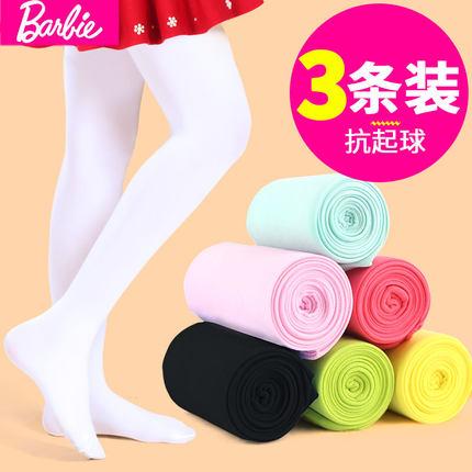 芭比女童连裤袜舞蹈袜3双