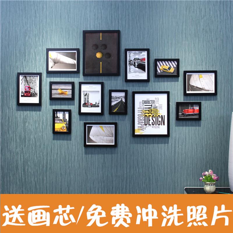 居間の簡単な写真壁は額縁の壁を飾って、近代的な個性のアイデアの組み合わせの寝室の連体は壁の写真の壁を掛けます。