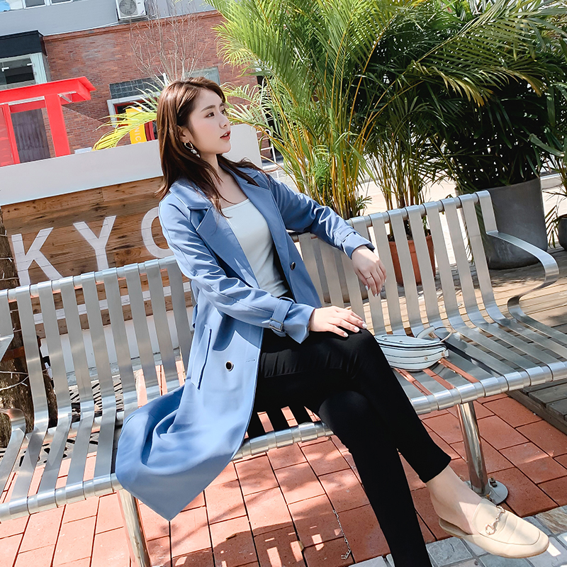 Spring and autumn 2020 new fashion windbreaker womens middle and long style Korean fashion temperament womens coat small coat