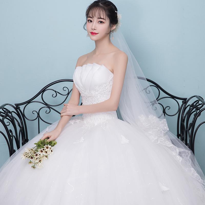 婚纱礼服新娘2018新款公主抹胸修身显瘦简约轻婚纱齐地梦幻夏季