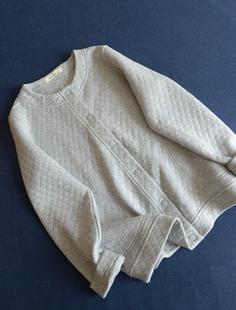 经典 森林系美好安静衍缝棉压格薄外套 日系 推荐 特