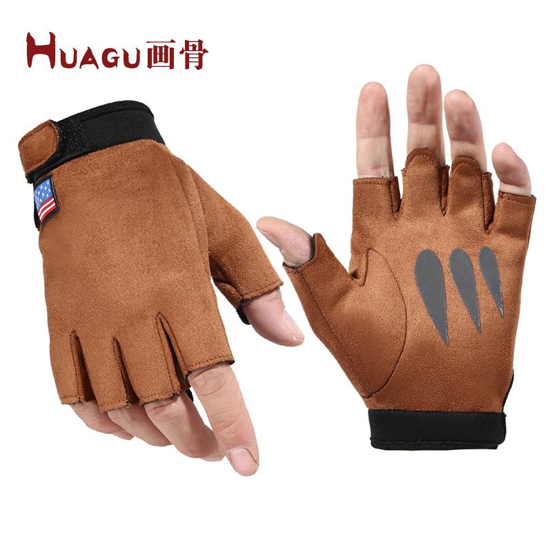 Мужские перчатки без пальцев Артикул 579842759317
