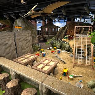 商場兒童遊樂場設備室內兒童樂園淘氣堡恐龍滑梯大型遊樂設施定製
