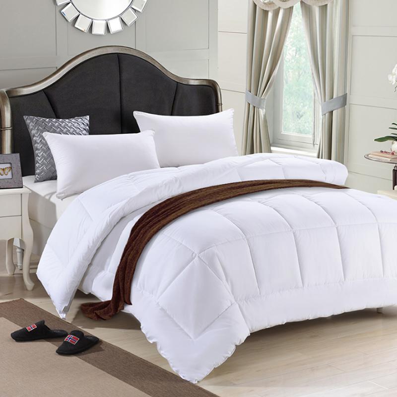 酒店床上用品被子被芯全棉空调被夏凉被单双人羽丝绒冬被夏被薄被(用88元券)