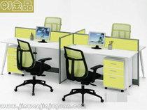 人隔断卡位员工桌电脑桌卡座4职员办公桌四人位屏风办公桌椅组合