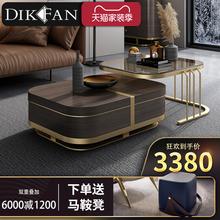 轻奢北欧茶几电视柜组合套装客厅现代简约多功能大理石小户型家具