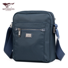New Seven Wolves Single Shoulder Bag Male Outdoor Fashion Waterproof Oxford Cloth Bag Slanting Men's Bag Leisure Backpack