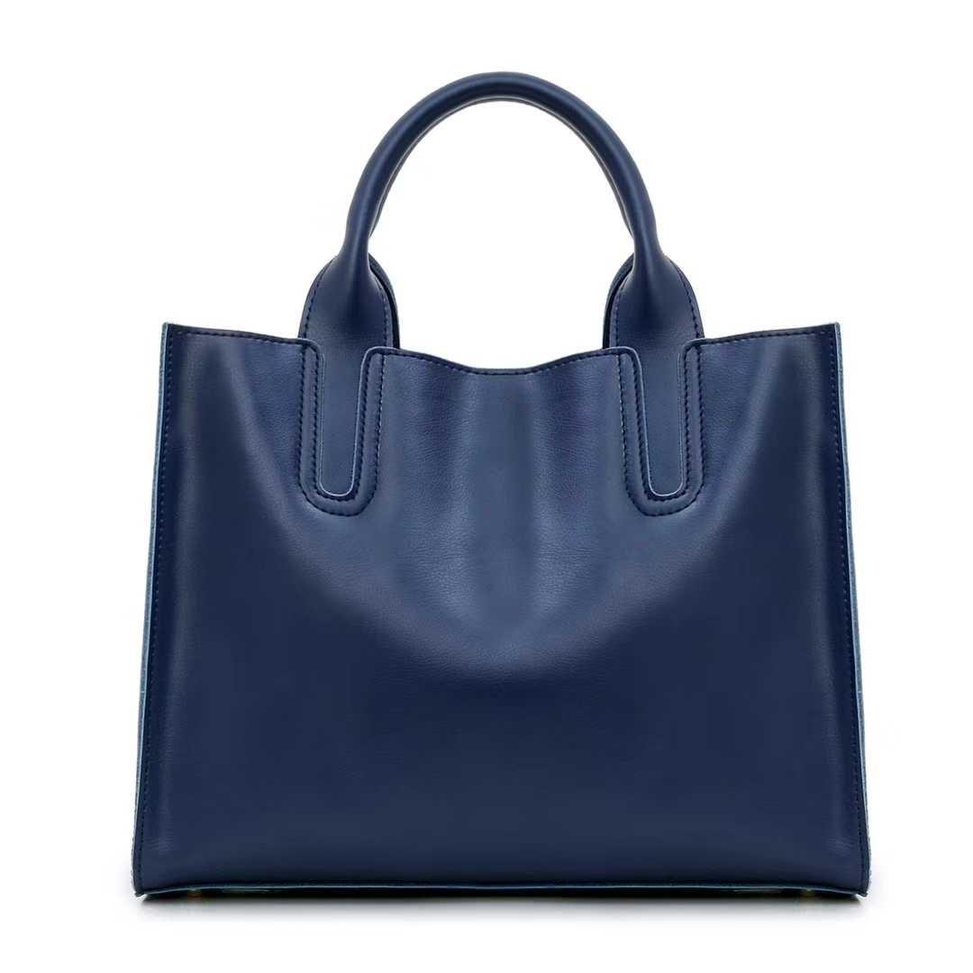 头层牛皮热销 简约时尚手提包 女包经典款手袋 大容量通勤包bag
