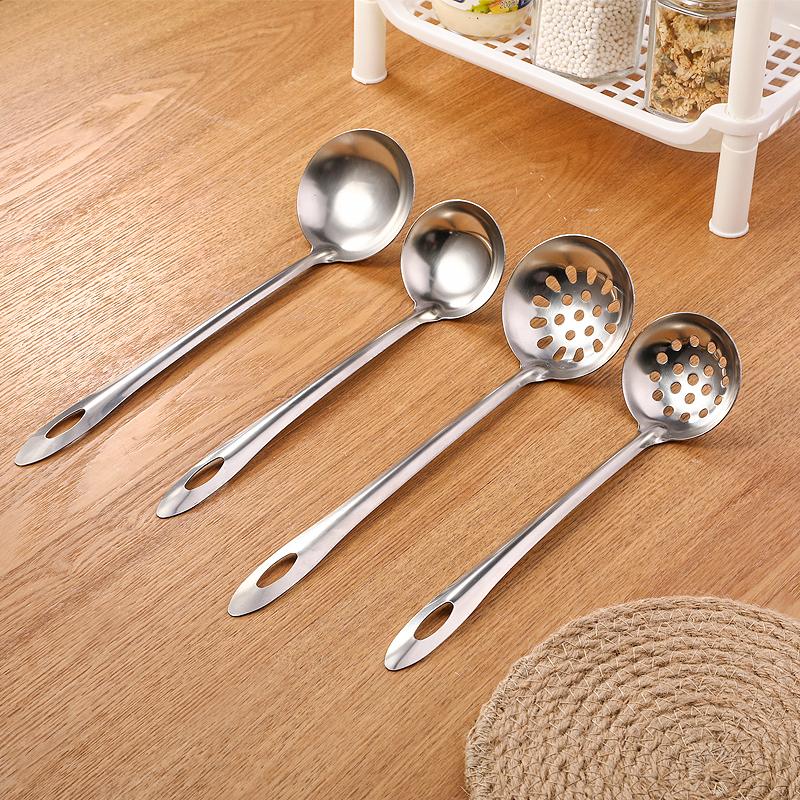 长柄不锈钢汤勺家用漏勺大勺子大号汤匙厨房盛稀饭粥勺火锅勺炒勺