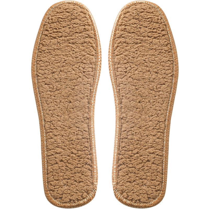 秋冬季保暖棉绒皮毛一体羊毛加厚男女鞋垫吸汗透气防臭羊驼绒鞋垫