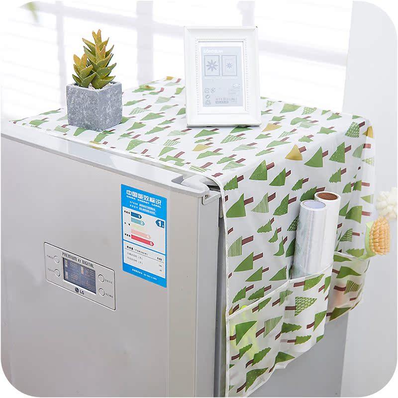 Домой одна открытая дважды открытый на дверь холодильник пылезащитный чехол печать водонепроницаемый одна дверь двойные двери больше двери холодильник крышка полотенце крышка
