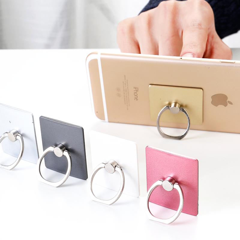 Творческий палка тип ручной машинально кольцо пряжка вращение скольжение металл квартира стоять яблоко huawei телефон карта пряжка