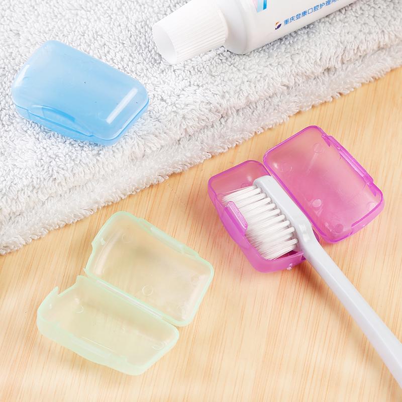 Портативный путешествие зубная щетка коробка зубная щетка крышка зуб инструмент в коробку на открытом воздухе зубная щетка головной убор охрана окружающей среды зубная щетка глава защитный кожух