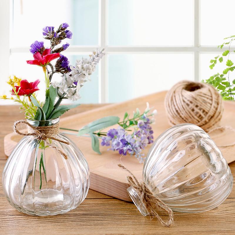 Творческий стекло ваза современный простой прозрачный обеденный стол небольшая партия сухие цветы цветы качели установить гостиная цветочная композиция декоративный бутылка