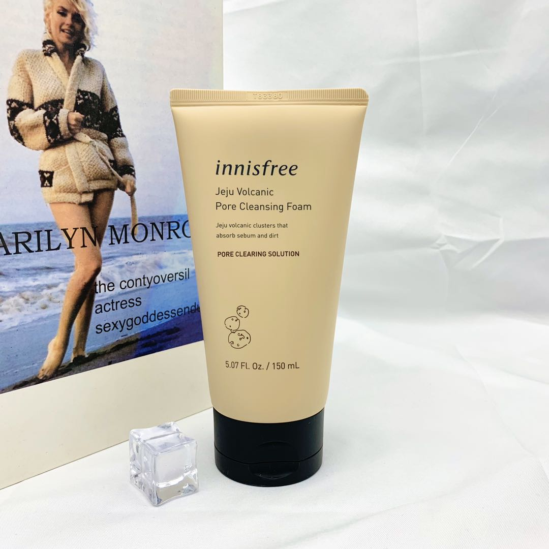South Korea Innisfree yueshifengyin volcano mud facial cleanser deep cleansing and oil control facial cleanser for boys and girls