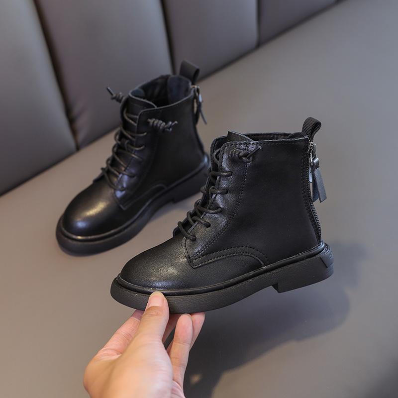女童靴子真皮女孩公主靴2020秋冬新款英伦风宝宝皮靴男童网红短靴