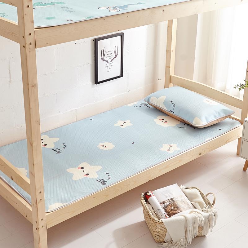 凉席夏季单人学生宿舍冰丝凉席0.9m床可水洗可折叠1米草席1.2席子