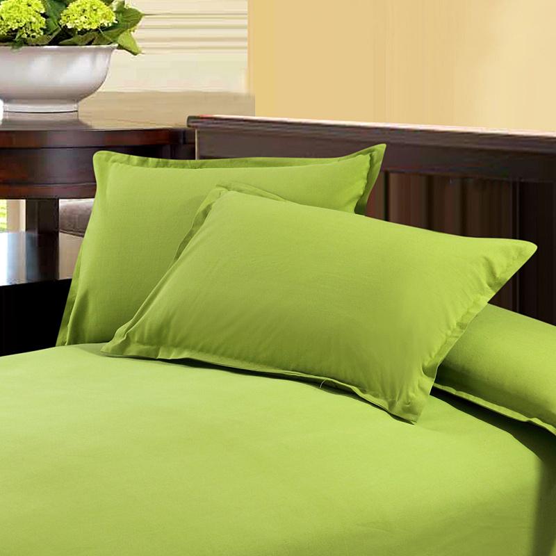 豫之锦 全棉纯色老粗布枕套 纯棉素色加厚信封式枕头套 一对包邮