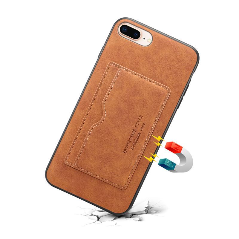 适用于苹果7plus手机壳可放卡零钱包带插卡槽iPhone8plus皮套支架