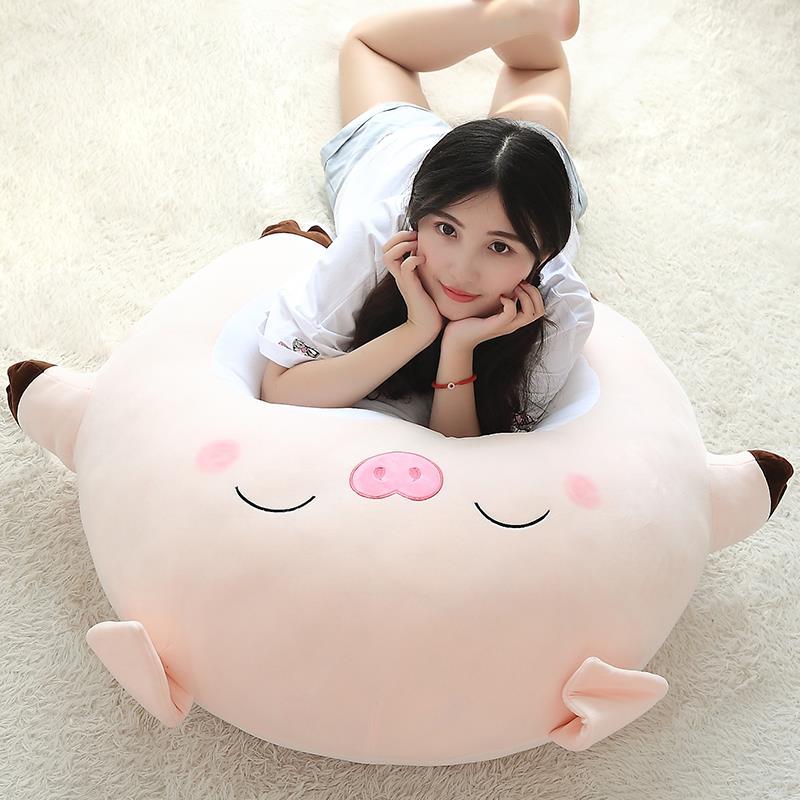 娃公仔可爱猪头抱枕可爱的公仔大号卡通少女大抱枕娃娃超大迷你萌