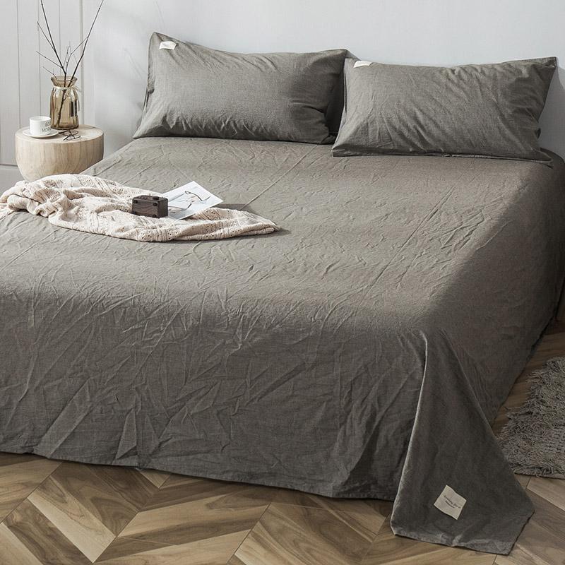 良品純棉床單單件水洗全棉1.21.5米學生宿舍單人被單雙人純色布料