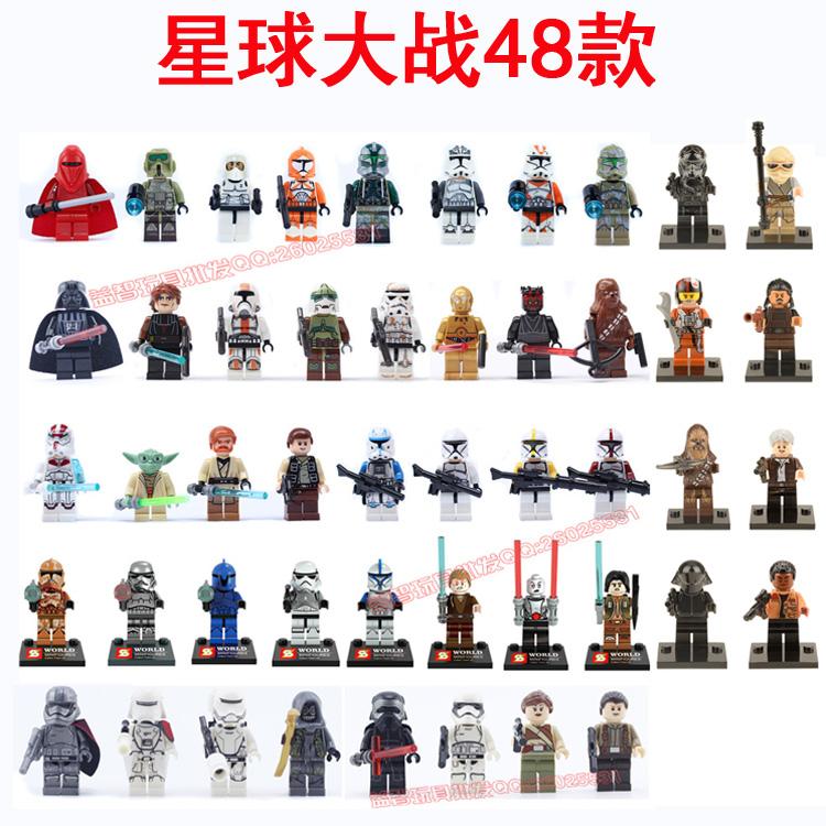 Звездные войны minifigures наборы Республики Дарта Вейдера клон клонов звездный боец полка
