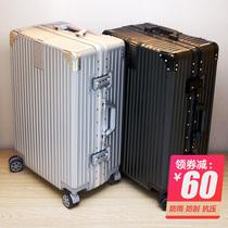 行李箱拉杆箱旅行箱复古铝框20男女学生万向轮24寸登机密码皮箱子