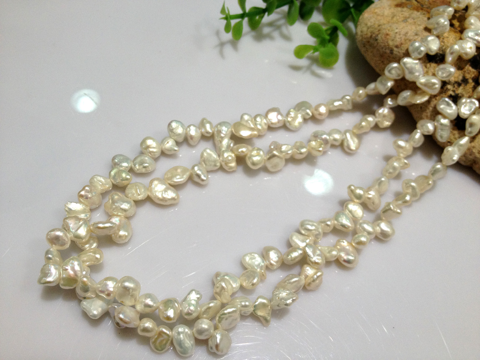Natural pearl necklace irregular pearl necklace multi-layer 2-ring freshwater pearl necklace winding Necklace