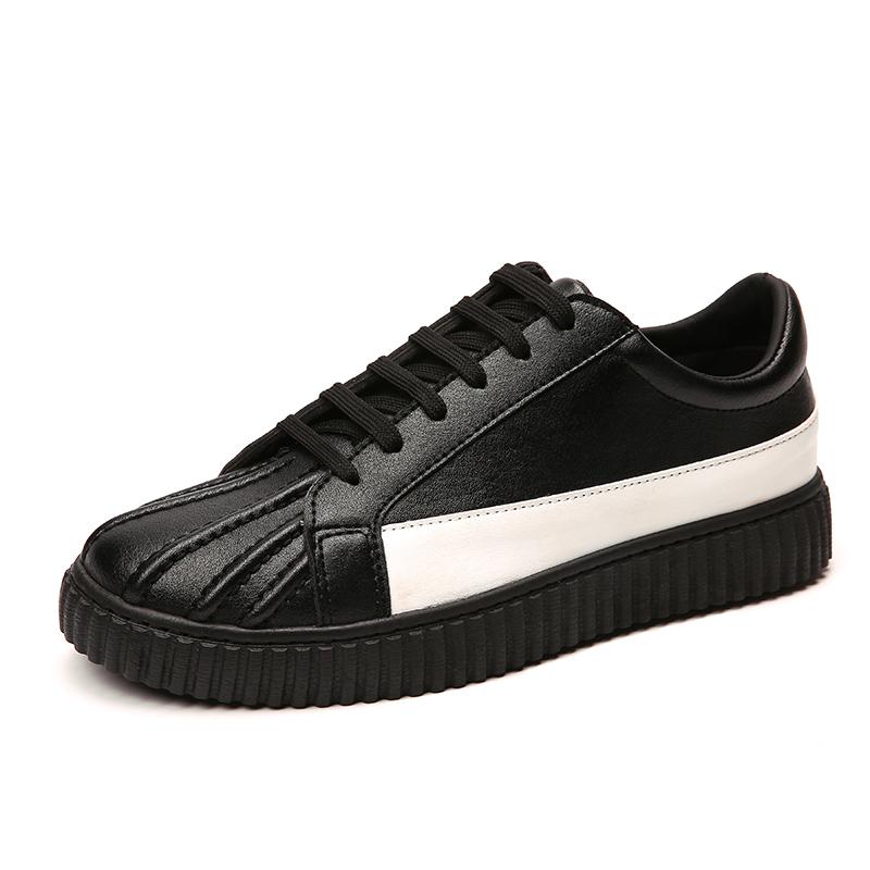 貝殼頭板鞋男 潮流男鞋英倫 鞋貝殼鞋男潮鞋透氣防水鞋子男
