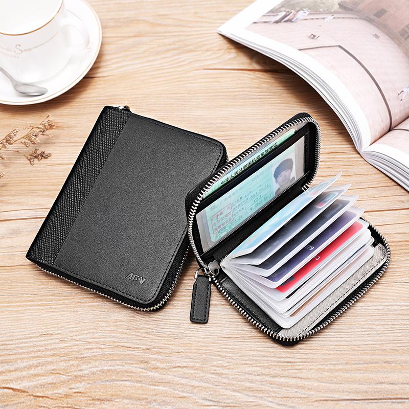 Bàn chải chống trộm gói thẻ chống khử từ da nam nhiều thẻ vị trí thẻ dung lượng lớn gói thẻ tín dụng đặt thẻ chủ thẻ kinh doanh trường hợp - Chủ thẻ