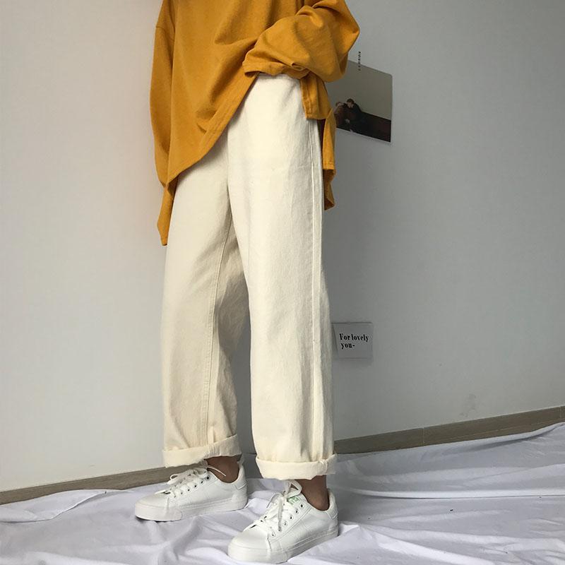 满89.90元可用1元优惠券金宝定制2019自制夏款白色牛仔裤