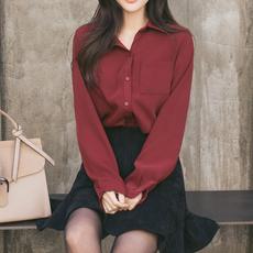 白衬衫女长袖2019韩版春装新款宽松百搭学生雪纺衫打底衫衬衣bf风
