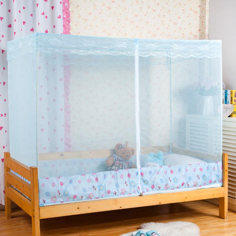 拉链支架小孩定制宝宝蚊帐婴儿超大儿童订做床方顶学生定做蚊帐带