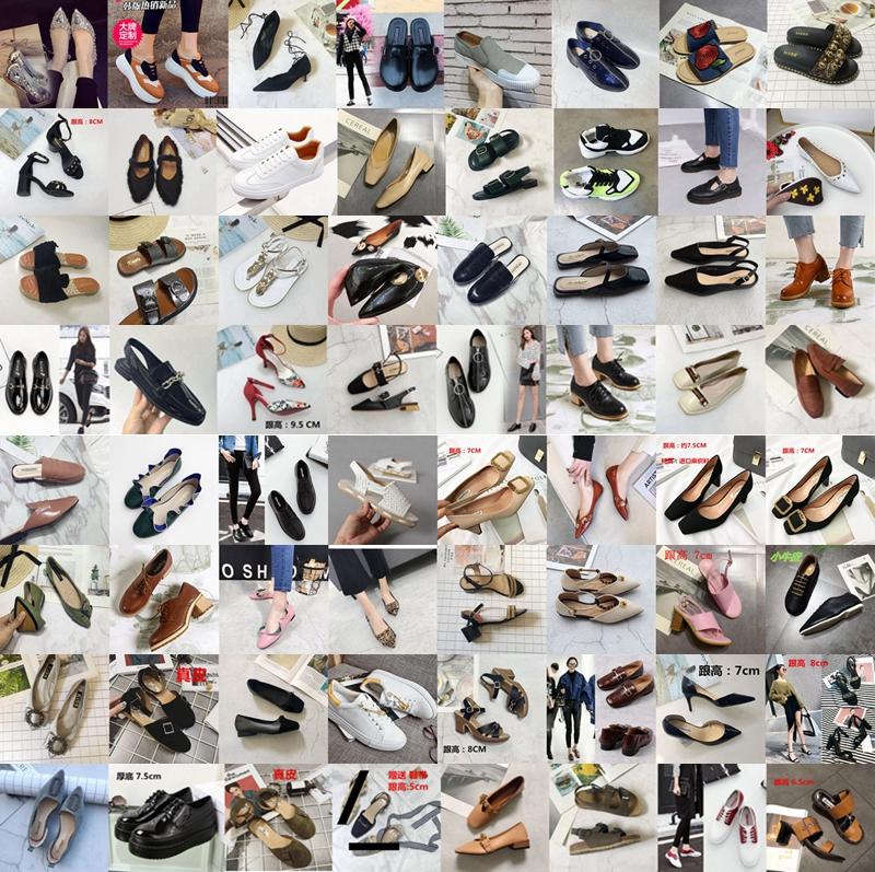华利女鞋断码清仓不退换 福袋单鞋凉鞋平底高跟 可挑选款 2双包邮