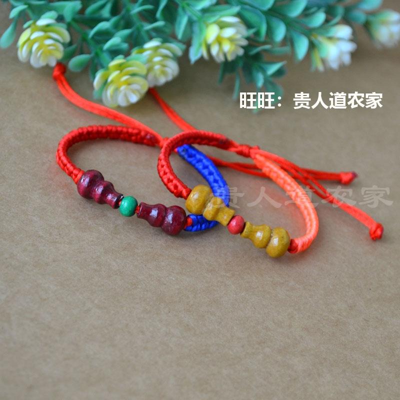 端午节五彩绳新品对葫芦手链手工编织双色手绳端阳节男女情侣饰品