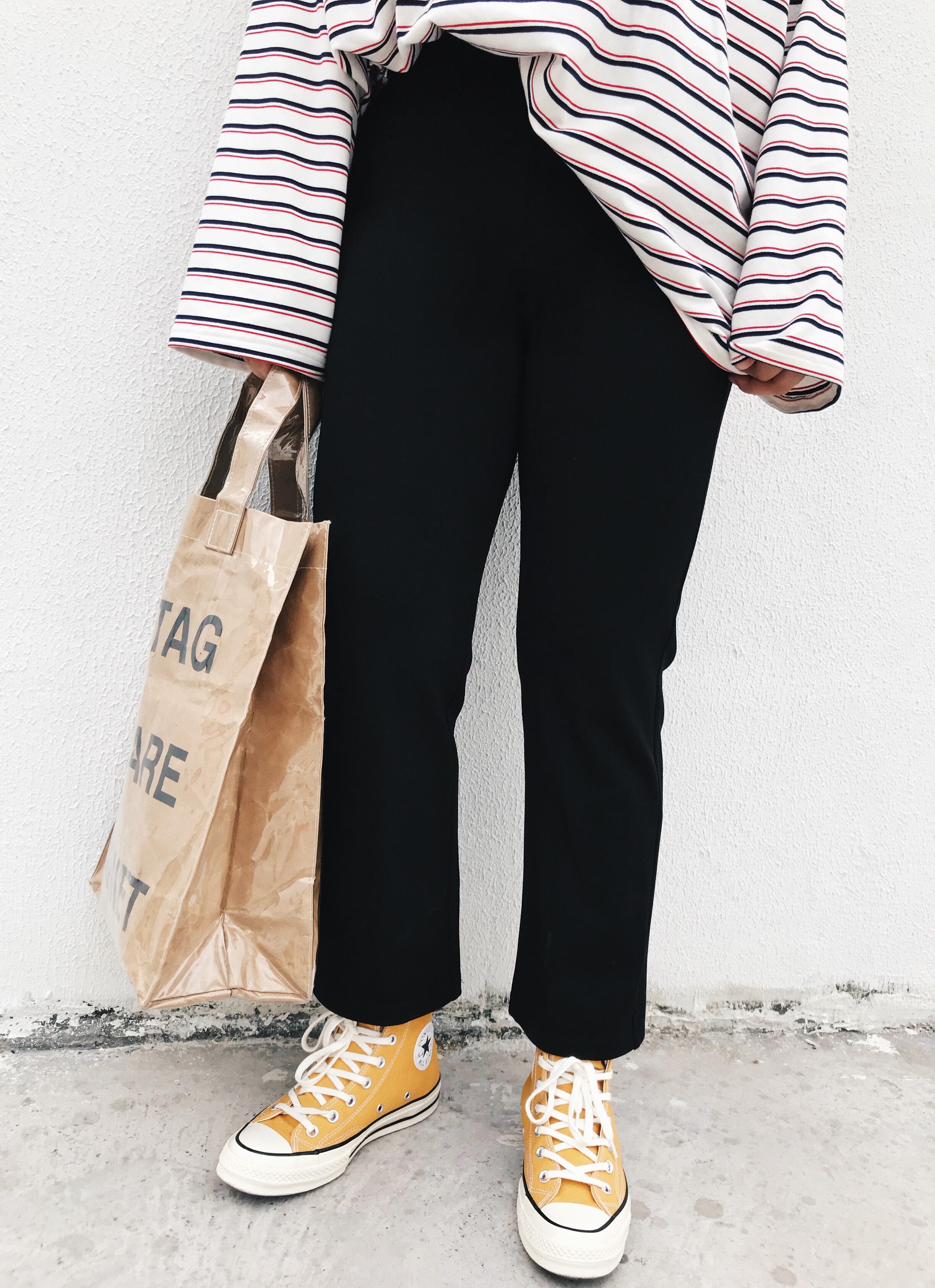 阿周家胖MM微喇紧身打底裤2018秋季新款韩版微胖大码女装百搭长裤