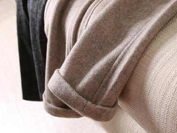 50%羊毛料!品质好到哭!人字纹毛呢裤子宽松九分西装裤烟管裤女
