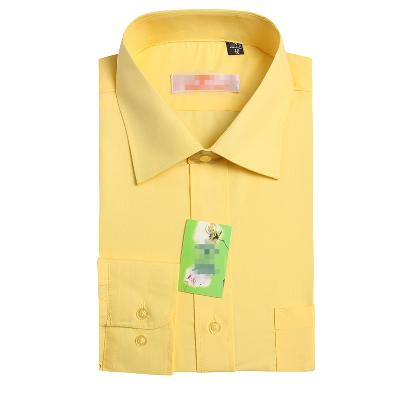 Beijing taxi drivers work clothes shirt mens and womens long sleeve half sleeve yellow shirt postal taxi drivers work clothes