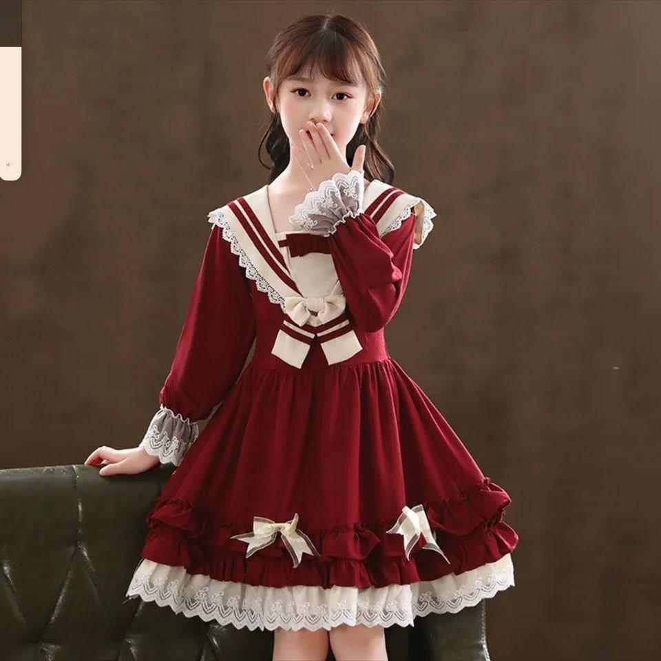 女の子のワンピース2021新型の秋の装いのLolitaのスカートの秋のディズニーの王女のスカートの子供服のlolita