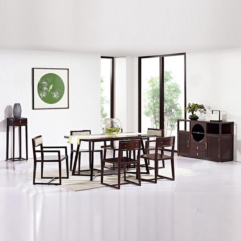 Новый китайский стиль обеденный стол стул сочетание прямоугольник обеденный стол рис стол магазин мебель современный простой твердая деревянная обедая столы и стулья сделанный на заказ