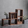 现代简约自由组合格子柜圆角客厅卧室多功能实木柜子置物架书柜小